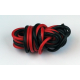 Fil silicone AWG16 - 1,32mm² rouge+noir