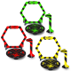 Gates, flags & bases for nano FPV racer (Yellow, Green & Red)