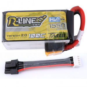 Tattu R-Line Accu 1550mAh 100C 4S1P 15.2V High Voltage Version 2.0 Cable equlibrage Amovible